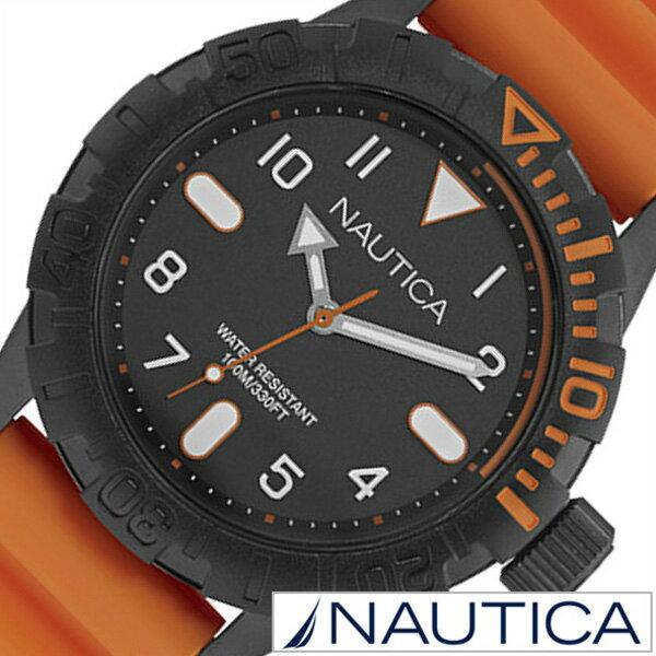 ノーティカ 腕時計 [NAUTICA時計]( NAUTICA 腕時計 ノーティカ 時計 ) ( NSR106 ) メンズ/腕時計/ブラック/NAD10082G [正規品/ラバー ベルト/クオーツ/防水/新作/ブランド/オレンジ/スポーツ/アナログ][プレゼント・ギフト][おしゃれ 腕時計][新生活 入学 卒業 社会人]