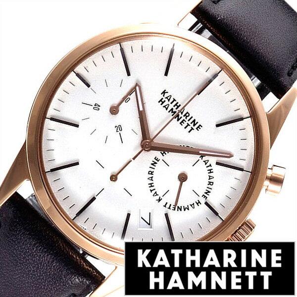 cdae925ca1 キャサリンハムネット腕時計 KATHARINEHAMNETT時計 KATHARINE HAMNETT キャサリン ハムネット 時計 クロノグラフ 6  CHRONOGRAPH 6 メンズ シルバー KH27H5-14[正規品 ...