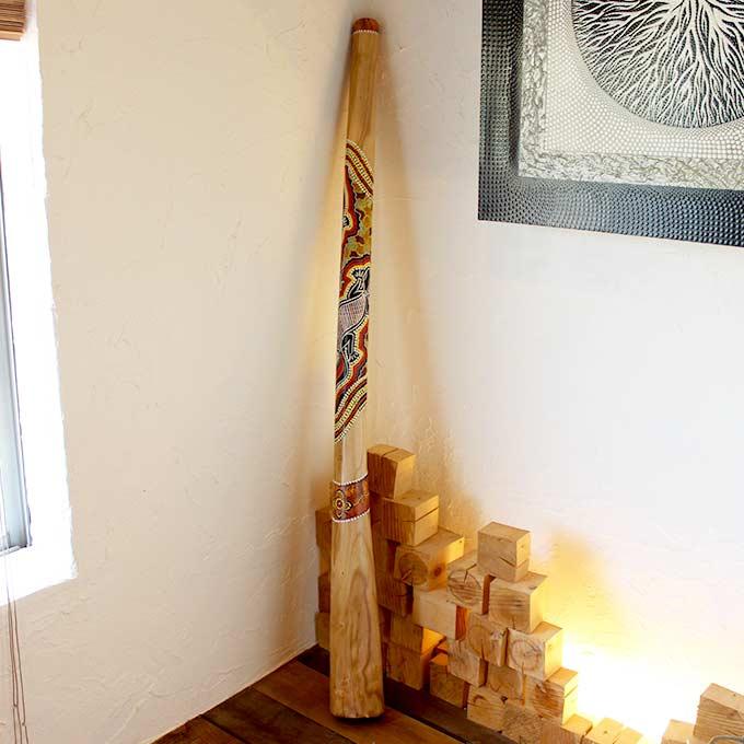 ディジュリドゥ アボリジニの民族楽器 バリ島 インテリア オブジェ 置物