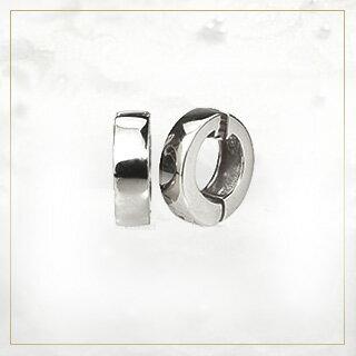 【ご予約納期8~9週間】プラチナ/Ptフープイヤリング(ピアリング)(10mm)(ej0012pt-yk)