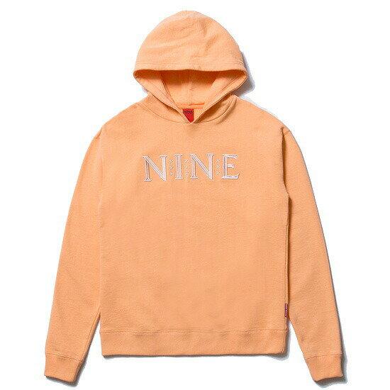 送料無料 NINE RULAZ LINE ナインルーラーズ NINE Logo Hoodie ドロップショルダー パーカー プルオーバー NRSS17-004 ピーチ