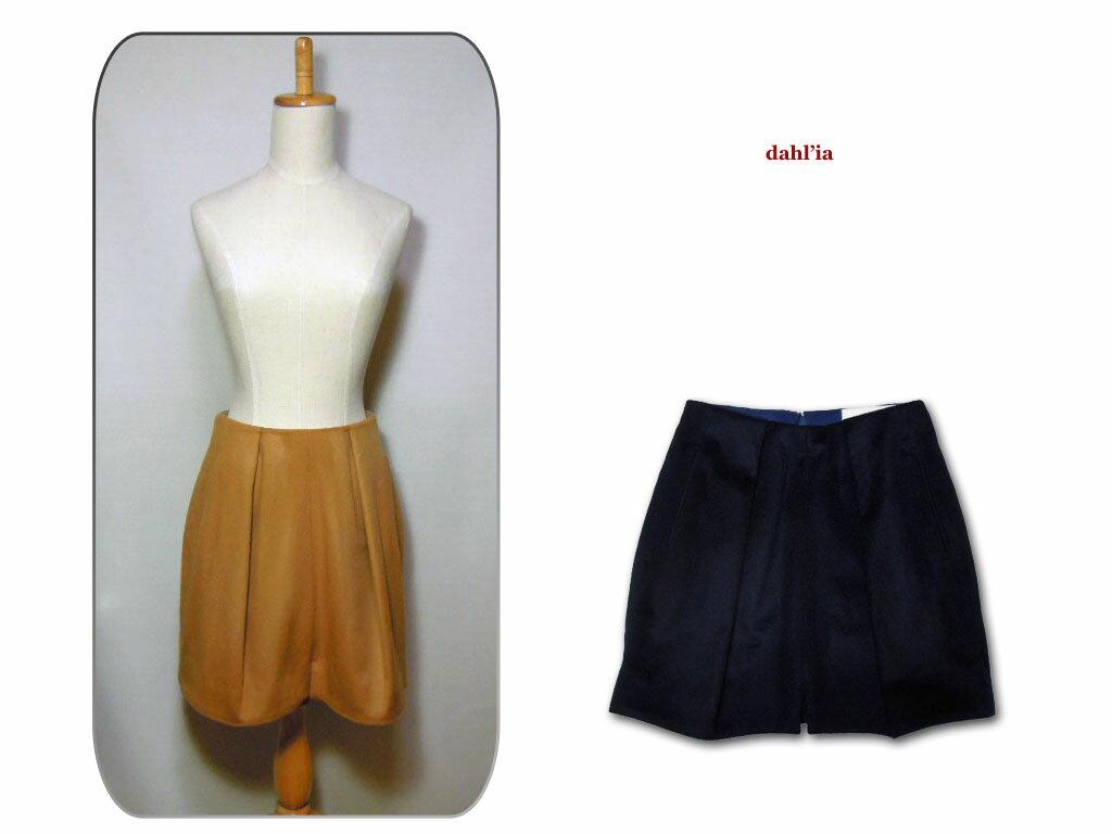 大量揃っています 【送料無料】【dahl'ia】ダリア DSK-81BM Wool Skirt ウールスカート