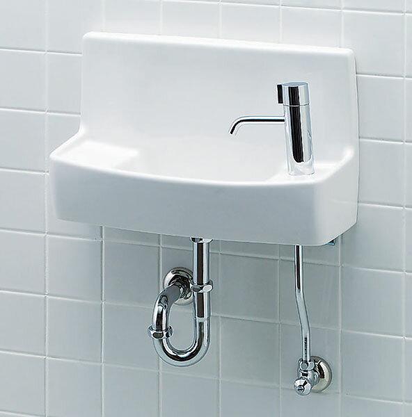 【L-A74HD】手洗い器 INAX トイレ ハンドル水栓 床給水・壁排水 イナックス LIXIL・リクシル ハイパーキラミック【RCP】【セルフリノベーション】