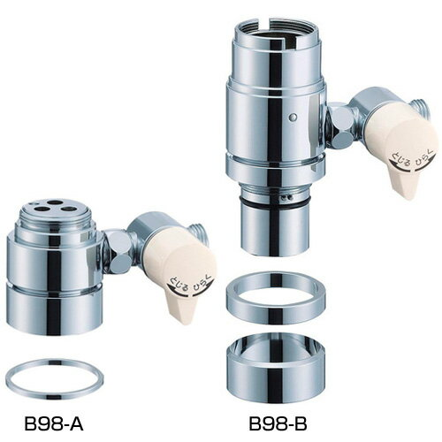三栄水栓  水栓部品 シングル混合栓用分岐アダプター 【B98-8A】【水栓 サンエイ】【RCP】[SANEI]  水栓【セルフリノベーション】
