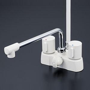 【全品送料無料】KVK 浴室 【KF2008ZG3】 寒冷地用 デッキ形2ハンドルシャワー [新品]【RCP】