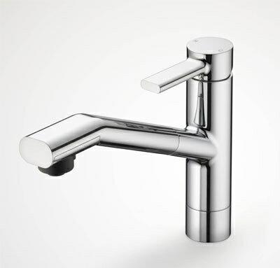 【全品送料無料】KVK 流し台用シングルレバー式シャワー付混合栓 【KM908】【KM908】[新品]【RCP】