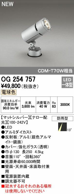 オーデリック スポットライト 【OG 254 757】 外構用照明 エクステリアライト 【OG254757】 【RCP】【沖縄・北海道・離島は送料別途必要です】【セルフリノベーション】
