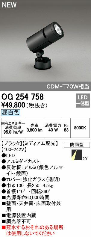 オーデリック スポットライト 【OG 254 758】 外構用照明 エクステリアライト 【OG254758】 【RCP】【沖縄・北海道・離島は送料別途必要です】【セルフリノベーション】