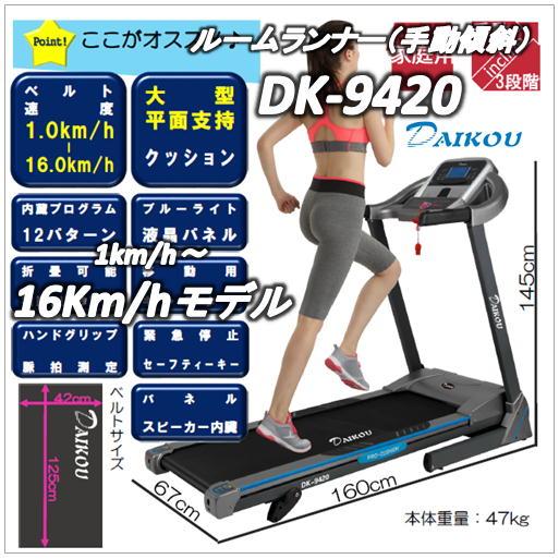 DK-9420ルームランナー(家庭用(DAIKOU)ダイコウ(大広)(電動トレッドミル)