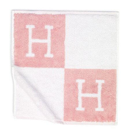 HERMES エルメスハンドタオル Avalon《アヴァロン》102192M02 ピンク ハンカチ【新品・未使用・正規品】