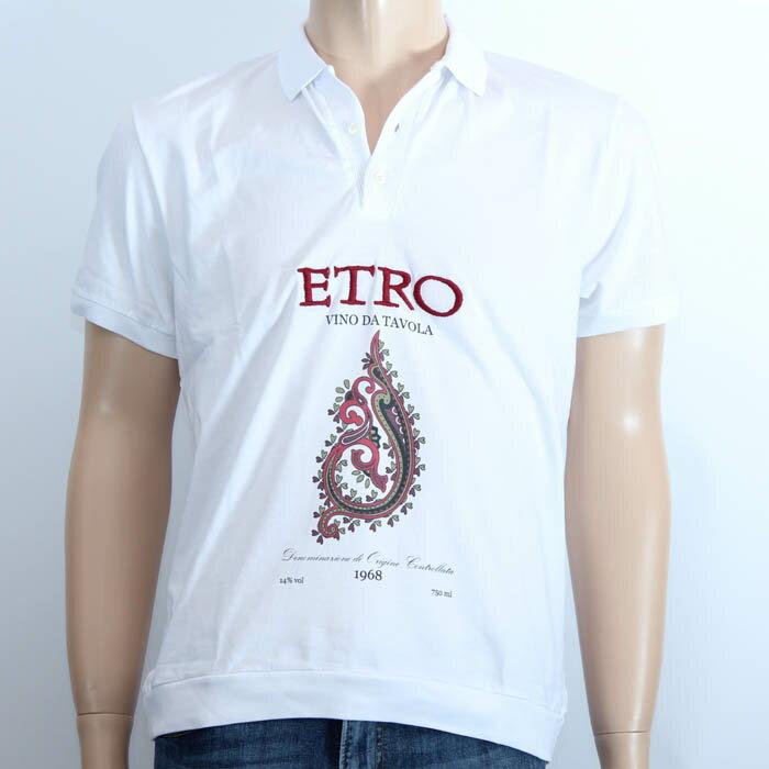 ETRO 半袖ポロシャツ ホワイト エトロ 1Y247 9140 990 2015春夏 メンズ 【E】【新品・未使用・正規品】