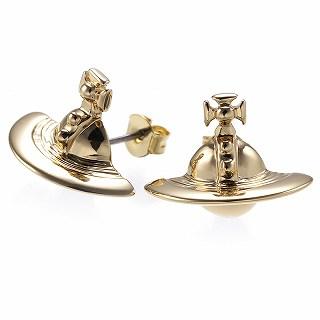 ヴィヴィアンウエストウッド Vivienne Westwood 724499B 2 ピアス SOLID ORB EARRINGS YELLOW GOLD ゴールド 【c】【新品・未使用・正規品】