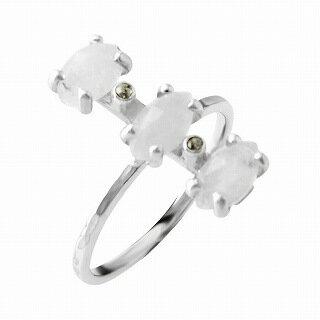 チャンルー CHAN LUU RGSF-1343 MNS 6.0 シャンパン ダイアモンド 0.03ct ムーンストーン付 リング 指輪 日本サイズ11.5号相当【r】【新品・未使用・正規品】