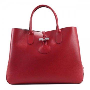 Longchamp ロンシャン 1681 871 545 ROSEAU REDハンドバッグ【】【新品/未使用/正規品】