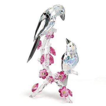 SWAROVSKI スワロフスキー 5004639  LOVING MAGPIES フィギュア 鳥フィギュア【】【新品・未使用・正規品】