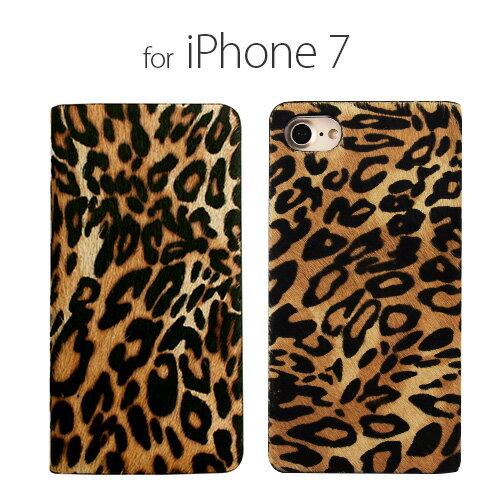 iPhone8 ケース iphone7 ケースGAZE Leopard Calf Hair Diary iphone7ケース iphone7 手帳型 iphone7ケース 手帳 iphone7 手帳型ケース ダイアリー iphone7 カバー 手帳 おしゃれ スマホケース アイフォン アイホン