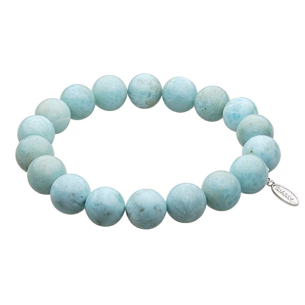 【天然石アクセサリー】ラリマー 10mm玉数珠ブレスレット パワーストーン【cenote t1048/送料無料】