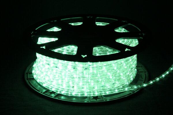 LEDイルミネーションチューブライト10mm*50m1800球アクアグリーン