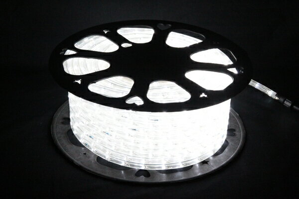 LEDイルミネーションチューブライト10mm*50m1800球ホワイト