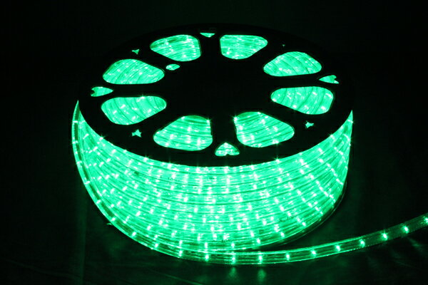 LEDイルミネーションチューブライト13mm*50m1800球グリーン