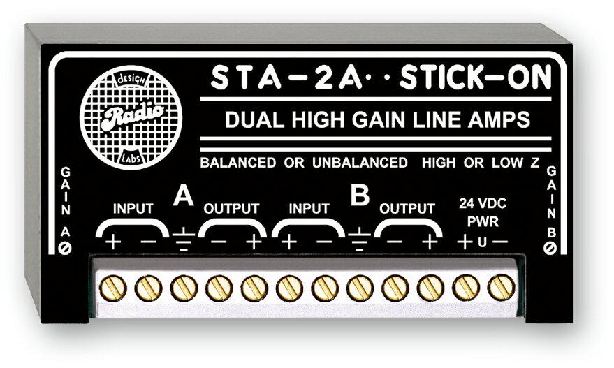 RDL STA-2A デュアルハイゲインラインアンプ  STICK-ON(R)シリーズ【送料無料】【smtb-u】