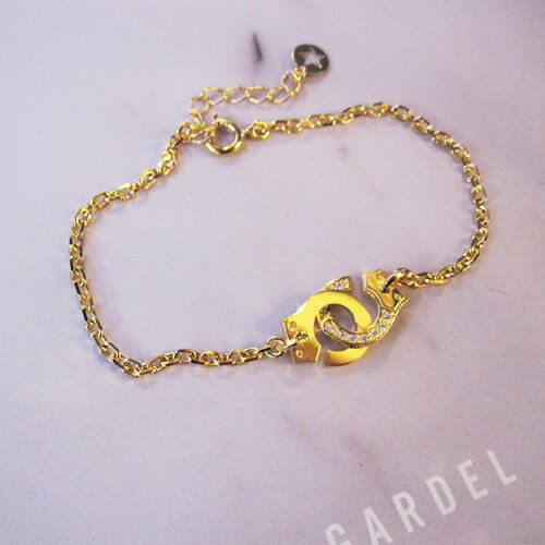 GARDEL MIDNIGHT CUFF CHAIN BRACELET
