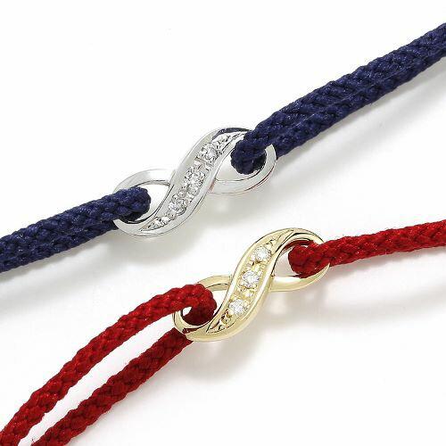 SYMPATHY OF SOUL Infinity HOPE Cord Bracelet w/Diamond