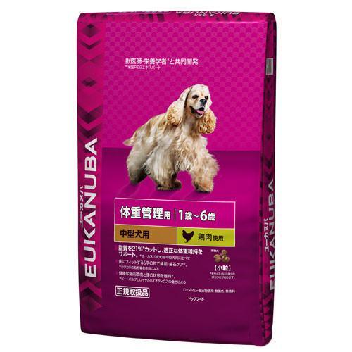 ユーカヌバ 体重管理用 1歳~6歳用 中型犬種 小粒 13.5kg 正規品 ライト 成犬用 お一人様1点限り 関東当日便