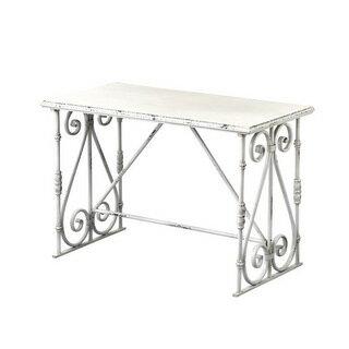 DECOR TABLE Sサイズ ホワイト/アンティーク インテリア テーブル メーカー直送