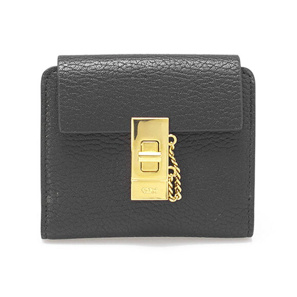 クロエ Chloe 財布 レディース 二つ折り財布  ミニ財布 DREW [ドリュー] ブラック 3P0805 944 001 BLACK