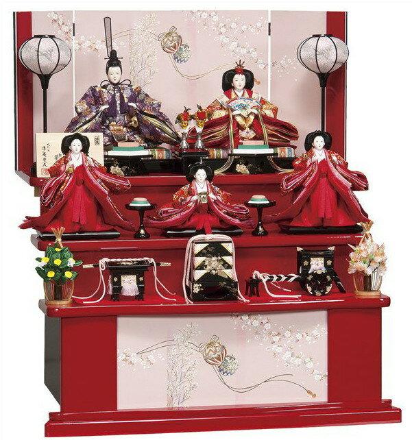 雛人形 平安豊久 三段飾り 美礼/ひな人形 303722