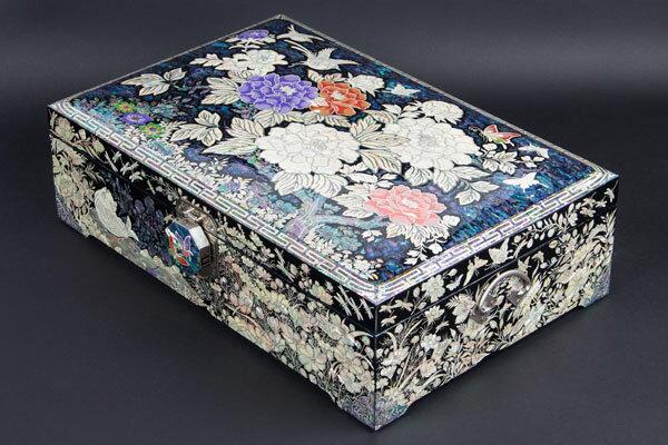 韓国螺鈿宝石箱牡丹(特大)■jewelrybox-drjb218-s【ギフト】