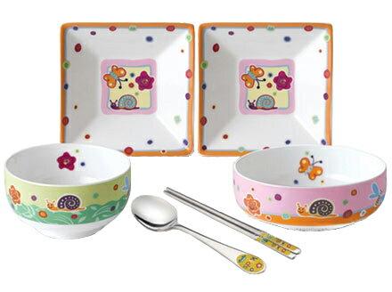 韓国子供用食器セット6ピース  ピクニック■kids-shokki-1-s【ギフト】【100日1才用品】