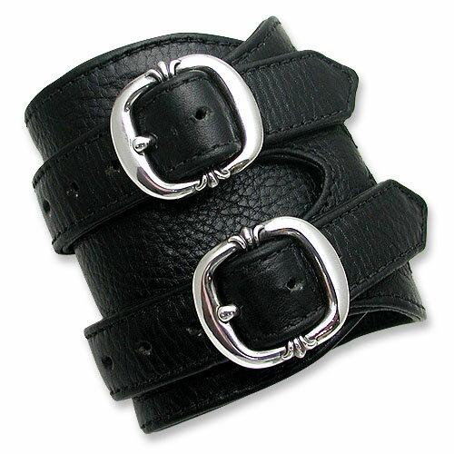 【CHROME HEARTS クロムハーツ Bracelet ブレスレット】ダブルR&Rレザーブレスレット/V1【送料無料】
