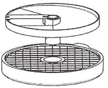 ロボクープ 野菜スライサー CL-52D・CL-50E用刃物円盤 ダイシンググリッド盤 25mm×25mm (2枚セット)【代引き不可】【野菜スライサー フードスライサー 業務用スライサー】【robot coupe】【エフエムアイ】【業務用】