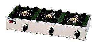 3口ガステーブル RSB-306SV (立消安全装置 付) (ガス種:都市ガス) 13A【代引き不可】【ガステーブル】【ガスコンロ】【卓上コンロ】【業務用】