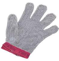 ニロフレックス メッシュ手袋5本指(片手) M M5(赤)【金属メッシュ手袋】【niroflex】【防刃】【特殊手袋】【業務用】
