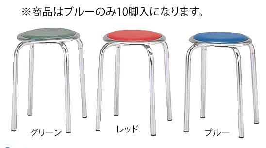 丸イス M-24M(10脚入) ブルー【代引き不可】【いす】【イス】【ダイニングチェア】【レストランイス】【飲食店椅子】【業務用】