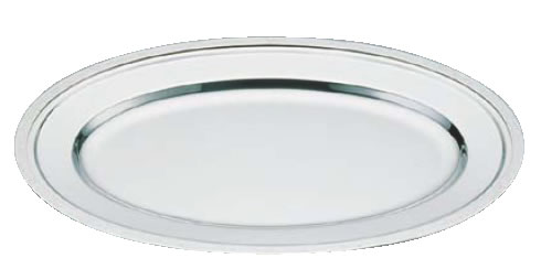 SW18-8モンテリー小判皿 24インチ【バイキング ビュッフェ】【バンケットウェア】【皿】【18-8ステンレス】【業務用】