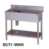 【送料無料】新品!マルゼン 一槽台付シンク W900*D450*H800 BST1-094R   [厨房一番]