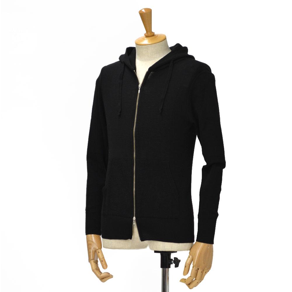 Letroyes【ルトロア/ルトロワ】Wジップアップパーカー SWEAT ZIP UP PARKA wool RENE NOIR(ウール ブラック)