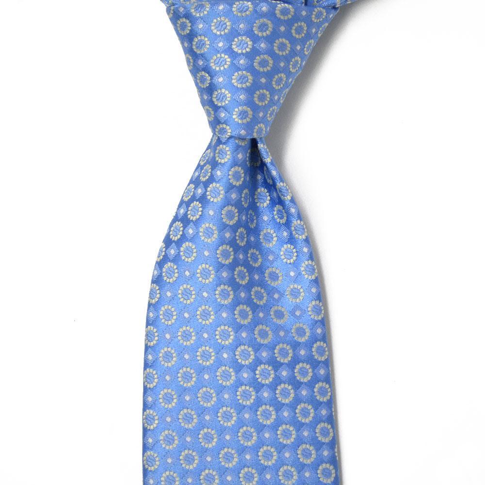 STEFANO RICCI【ステファノリッチ】tie4109 ネクタイ シルク 花柄 小紋 サックスブルー