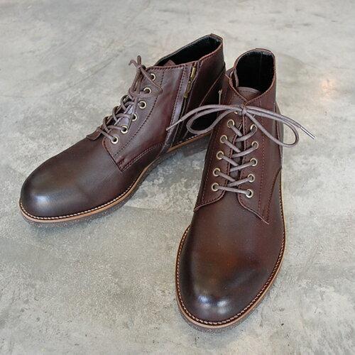 PADRONE パドローネ メンズ  メンズ CHUKKA BOOTS with SIDE ZIP (WATER PROOF LEATHER) / BAGGIO バッジオ DARK BROWN ダークブラウン PU7358-1222-16A 革靴