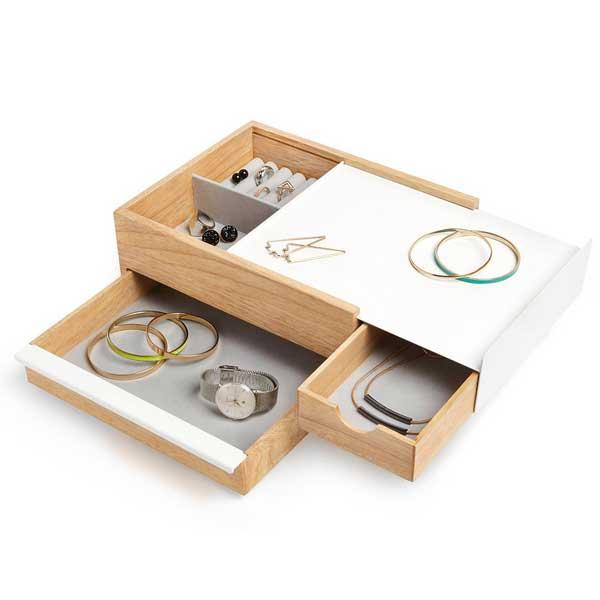 アンブラ umbra ストウイット ジュエリーボックス STOWIT Jewelry Box ホワイト/ナチュラル 2290245-668