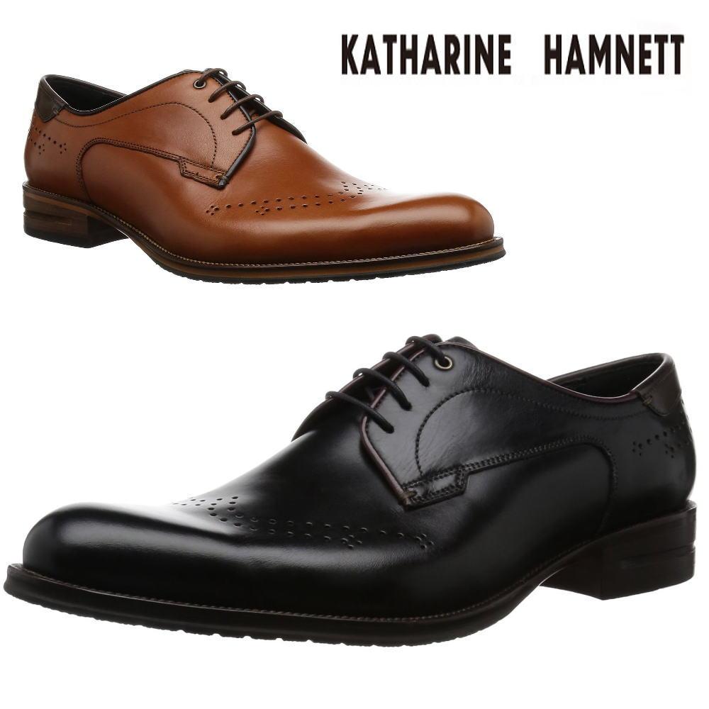 キャサリンハムネット/ウィングチップ/メダリオン/革靴/KH31521
