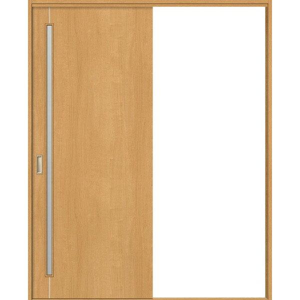 片引戸 標準ドア Vレール方� プッシュ表示錠付 ノンケーシング枠 / ケーシング枠 �明ガラス WKH-CF4 ウッディーライン リクシル 1420J / 1620J