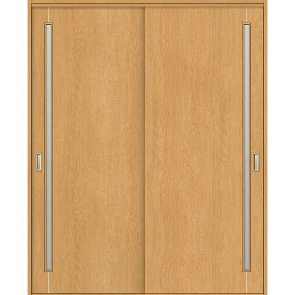引違戸 2枚建て Vレール方式 錠無し ノンケーシング枠 / ケーシング枠 透明ガラス WHH-CF4 ウッディーライン リクシル 1820