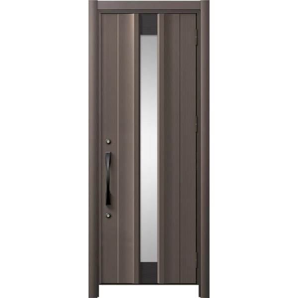 玄関ドア リシェントII 片開きドア C11型 アルミ仕様 アルミ色 W:779~877mm × H:2,357~2,438mm