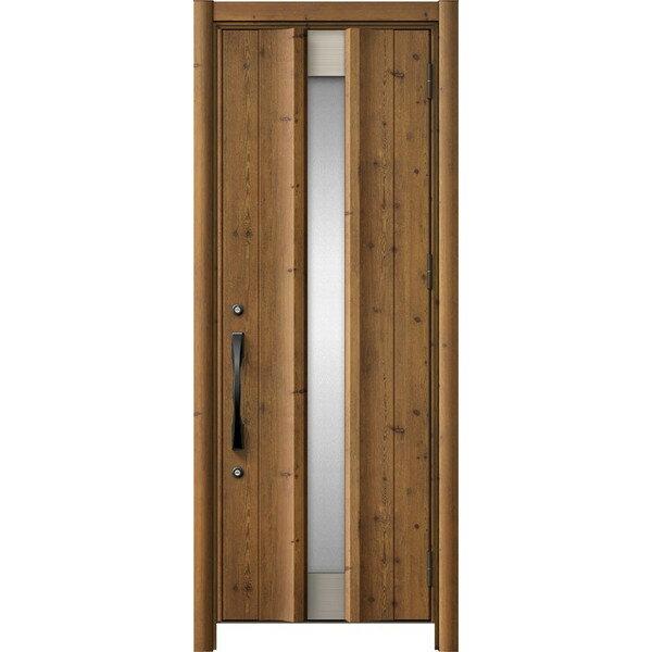 玄関ドア リシェントII 片開きドア C11型 アルミ仕様 木目調 W:779~877mm × H:2,044~2,356mm