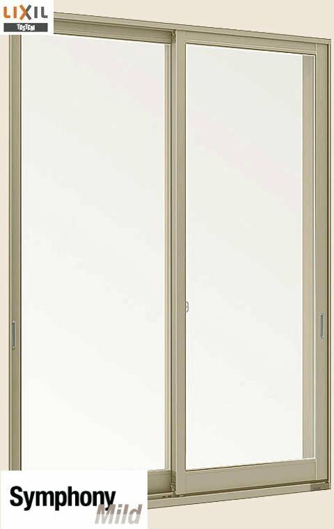 シンフォニーマイルド 複層ガラス 引違い窓 単体 サッシ 2枚建 半外付型 呼称 07403【幅780×高370】 LIXIL リクシル TOSTEM トステム